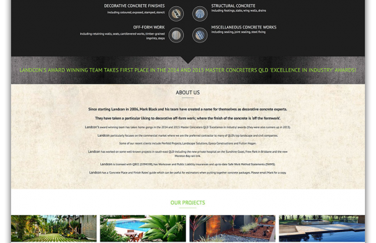 New Website for Landcon Landscaping & Concrete Construction