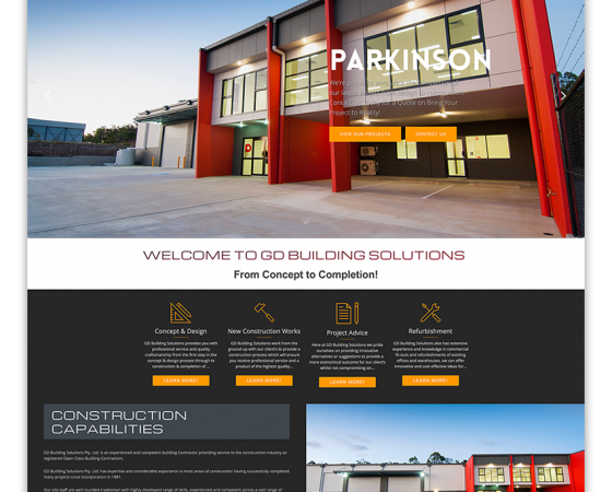 GD Building Solutions Website