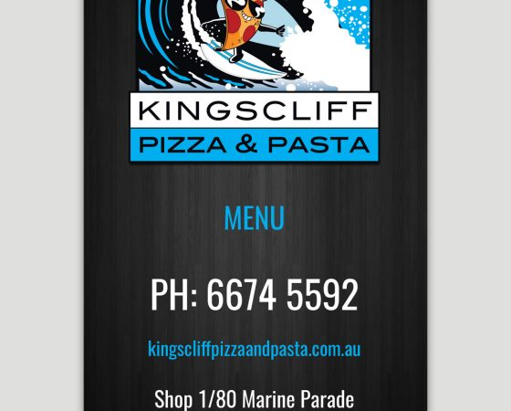 Kingscliff Pizza & Pasta Menu