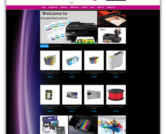 InkSuperstore Website