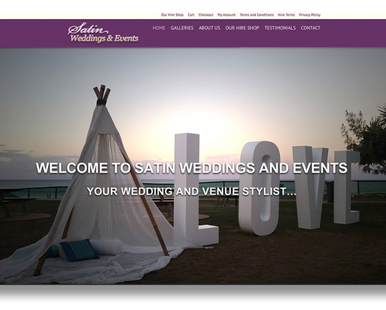 Satin Weddings & Events Website