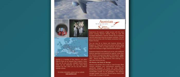 Austrian Airlines Full Page Ad