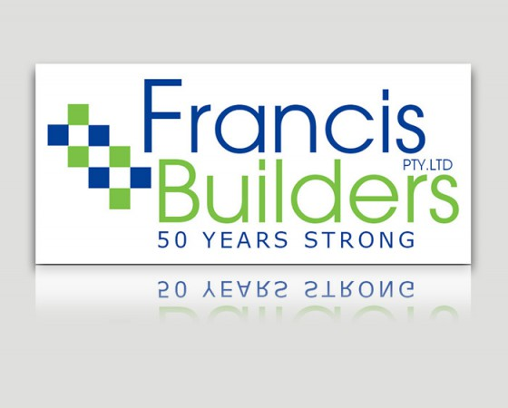 Francis Builders White Logo