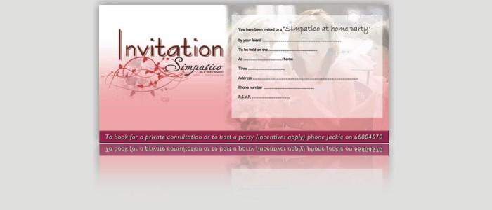 Simpatico Direct homewares Invitation