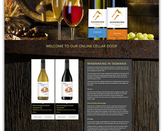 Gunnings Peak Vineyard Website