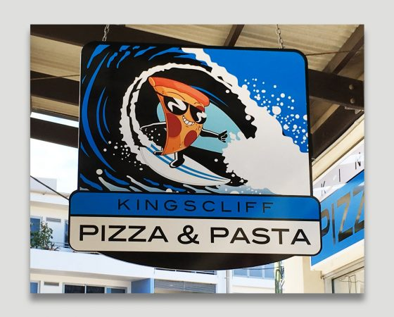 Kingscliff Pizza & Pasta Shop Sign