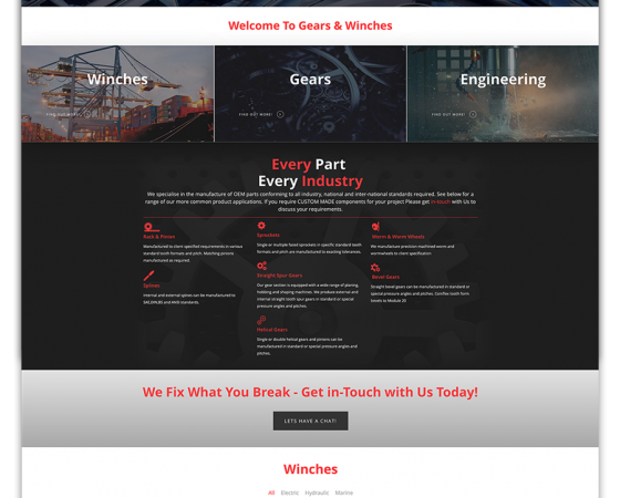Gears & Winches Website