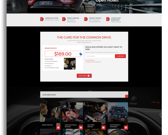 Southern district Auto Centre Website