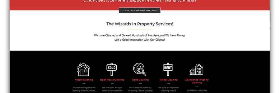 Wizard Property Services Website
