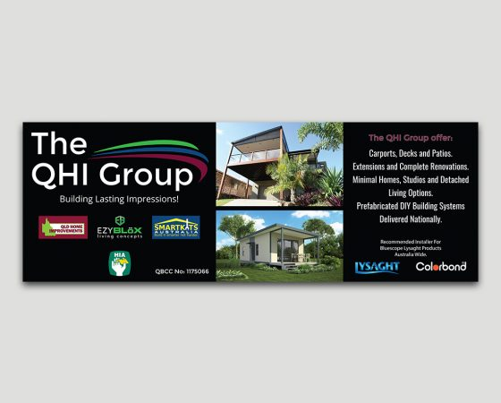 The QHI Group Corflute Sign