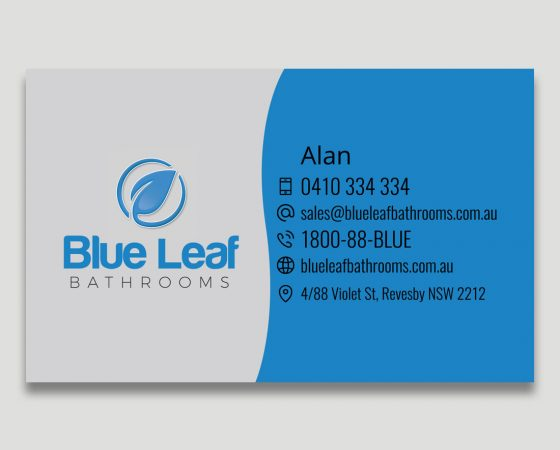 Blue Leaf Business Card