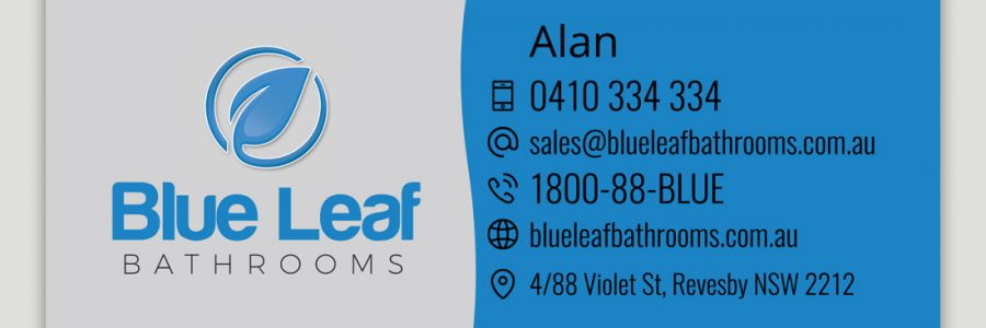 Blue Leaf Business Card