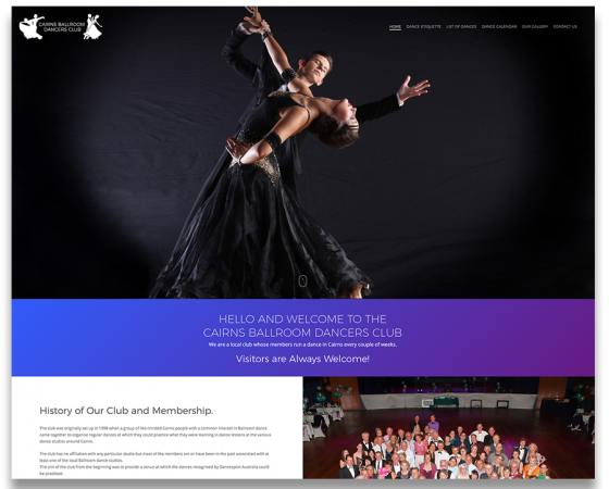 Cairns Ballroom Dancers Club Website