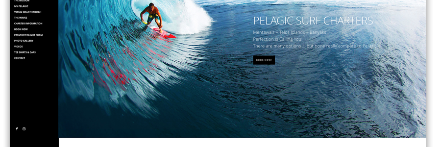 Pelagic Surf Charters Website